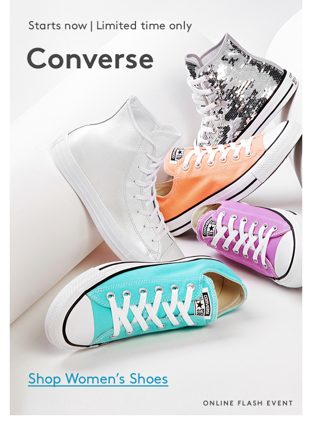 Starts now | Limited time only | Converse | Shop Women's Shoes | ONLINE FLASH EVENT